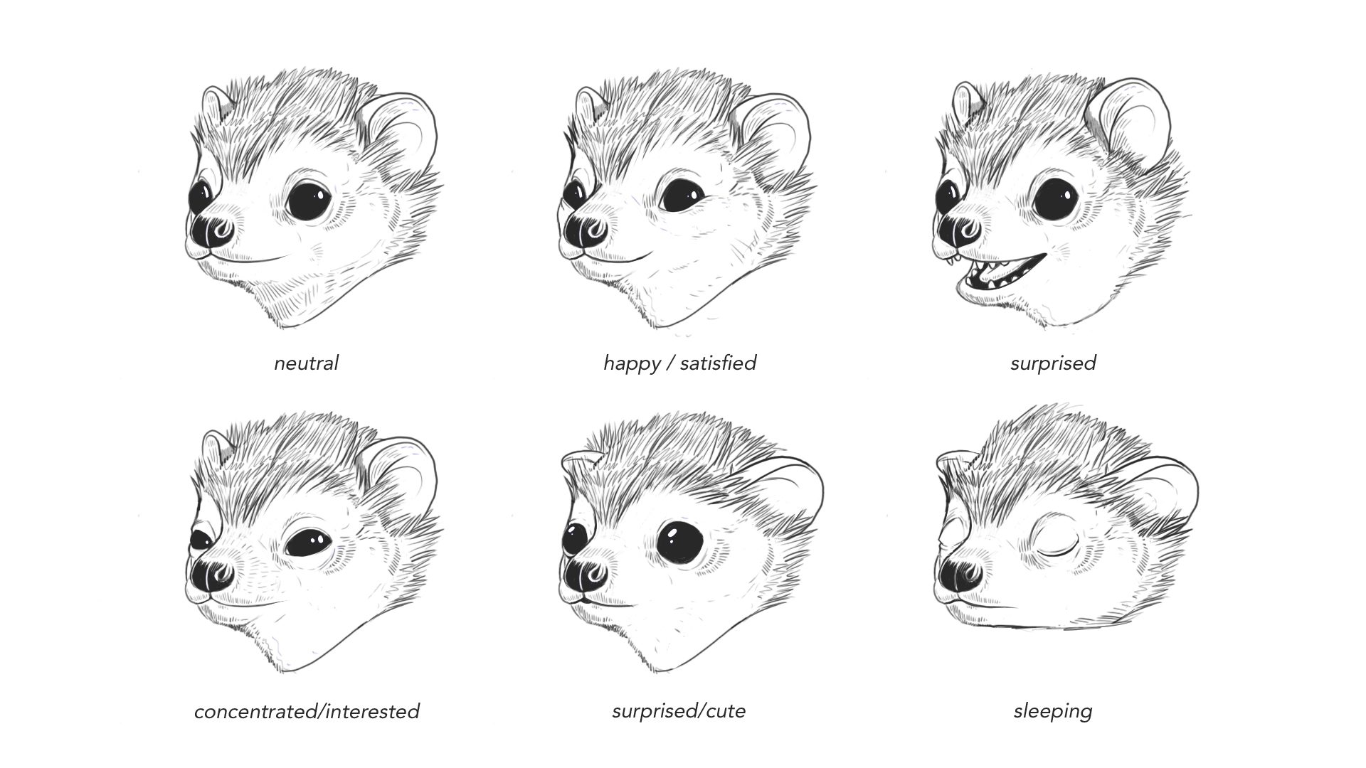 Freddie Expression Sheet 1
